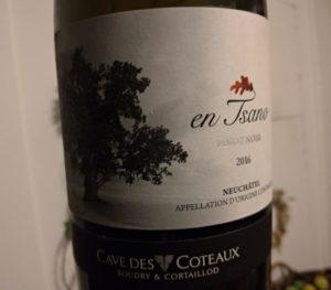 vin suisse - cave des coteaux - pinot noir