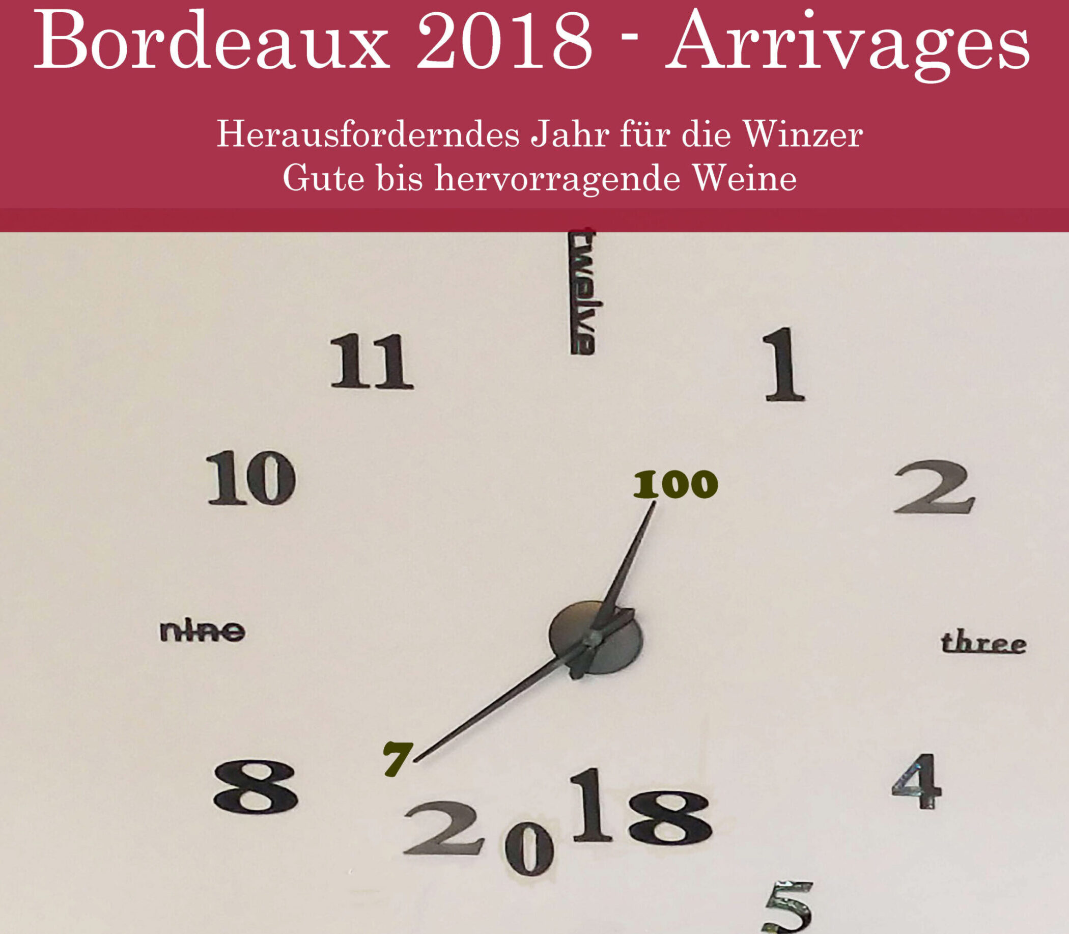 Bordeaux 2018 - Arrivage - Yves Beck
