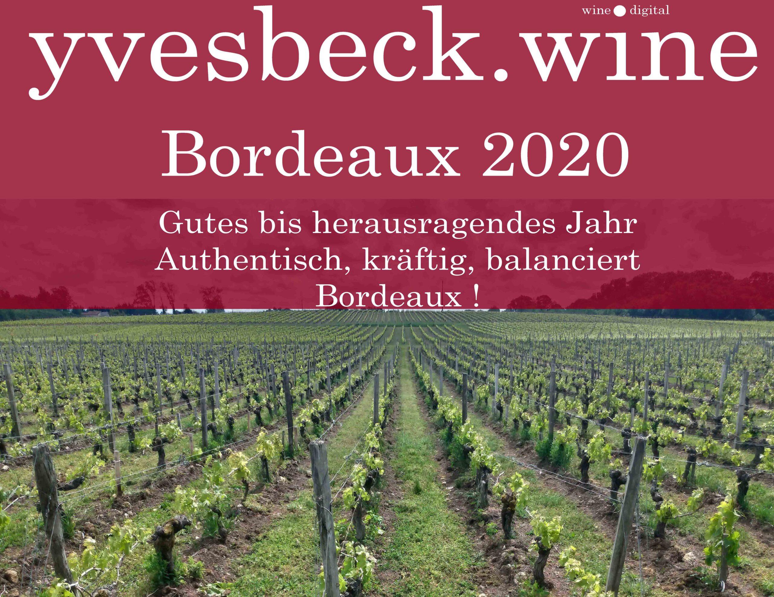 Primeurs Bordeaux 2020 - Yves Beck